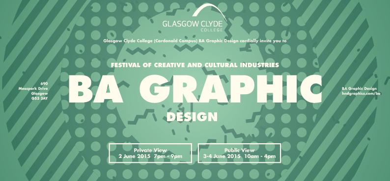 BA Graphics exhibition