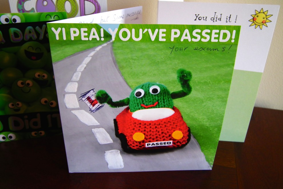 """""""You've passed"""" card"""