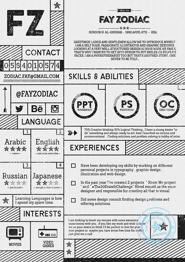 Fray Zodiac CV