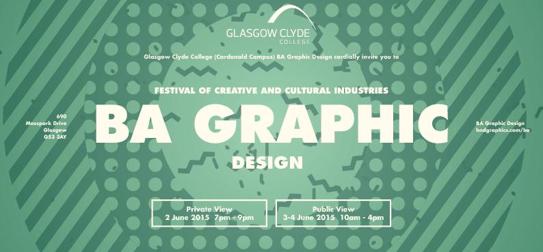 BA Graphic Design 2015 Exhibition