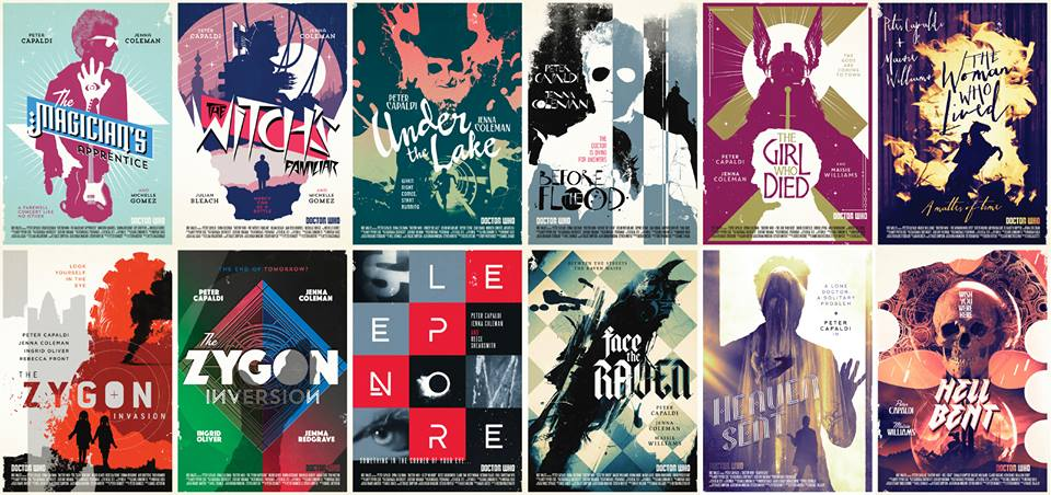 Retro Doctor Who Series 9 Posters by Stuart Manning