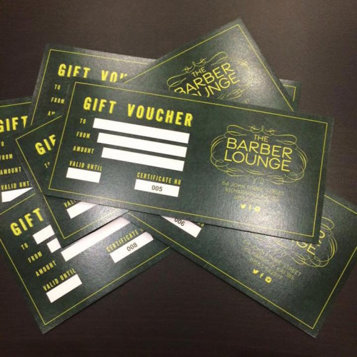 The Barber Lounge Kilmarnock Gift Voucher prints