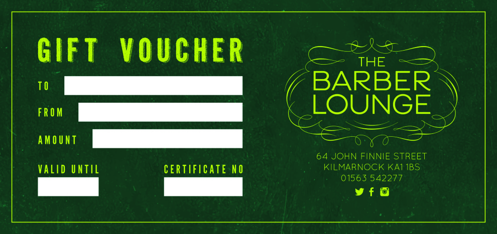 The Barber Lounge Kilmarnock Gift Voucher
