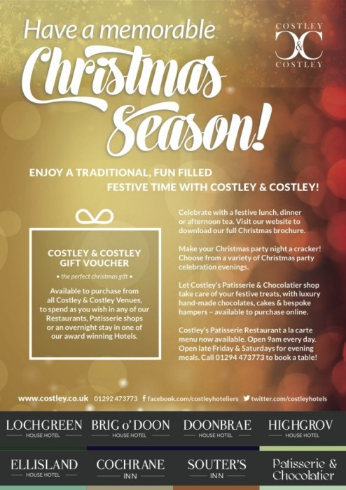 Costley & Costley A5 advert