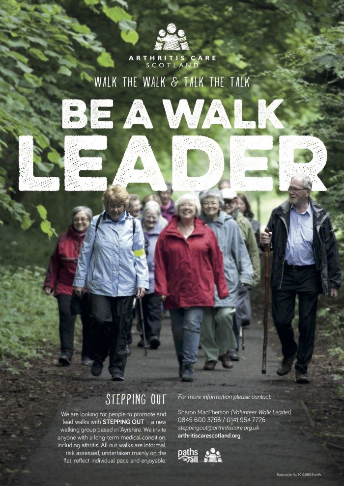 Arthritis Care Scotland Stepping Out advert