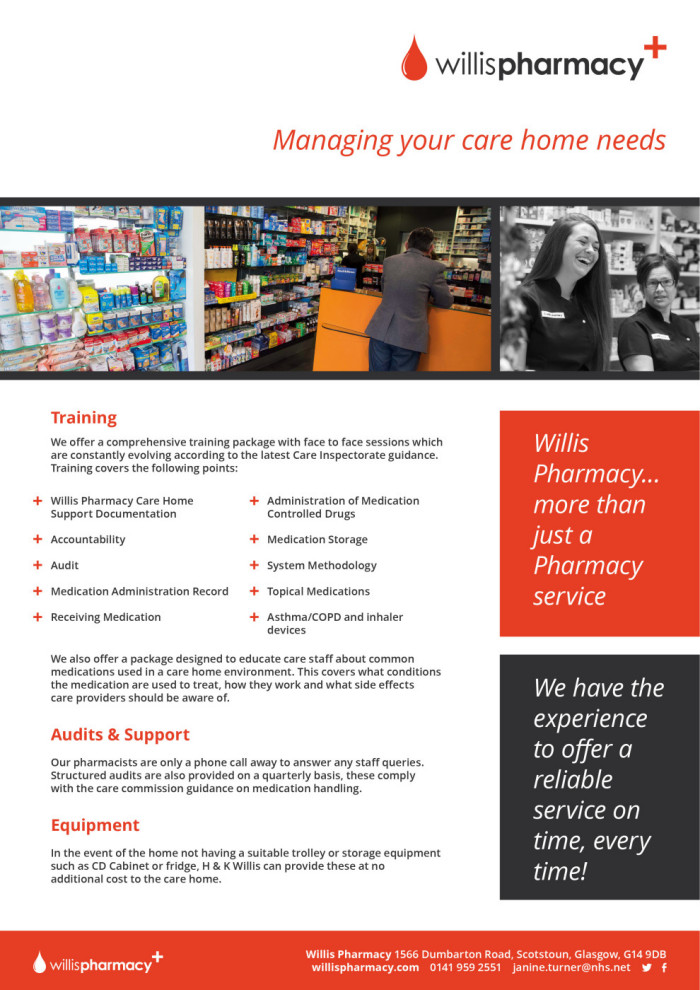 Willis Pharmacy A4 leaflet 2