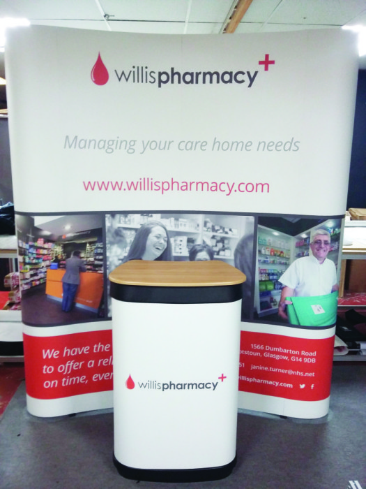 Willis Pharmacy Exhibition screen