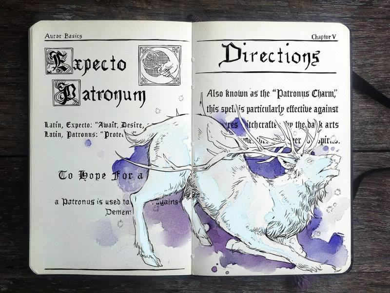 Expecto Patronum illustration by Gabriel Picolo