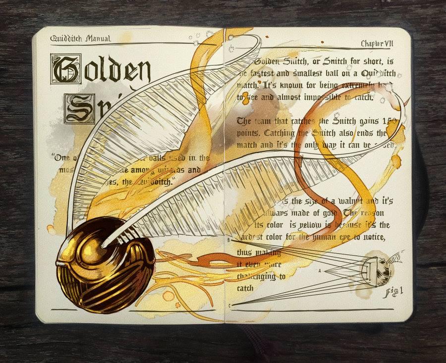 Golden Snitch illustration by Gabriel Picolo