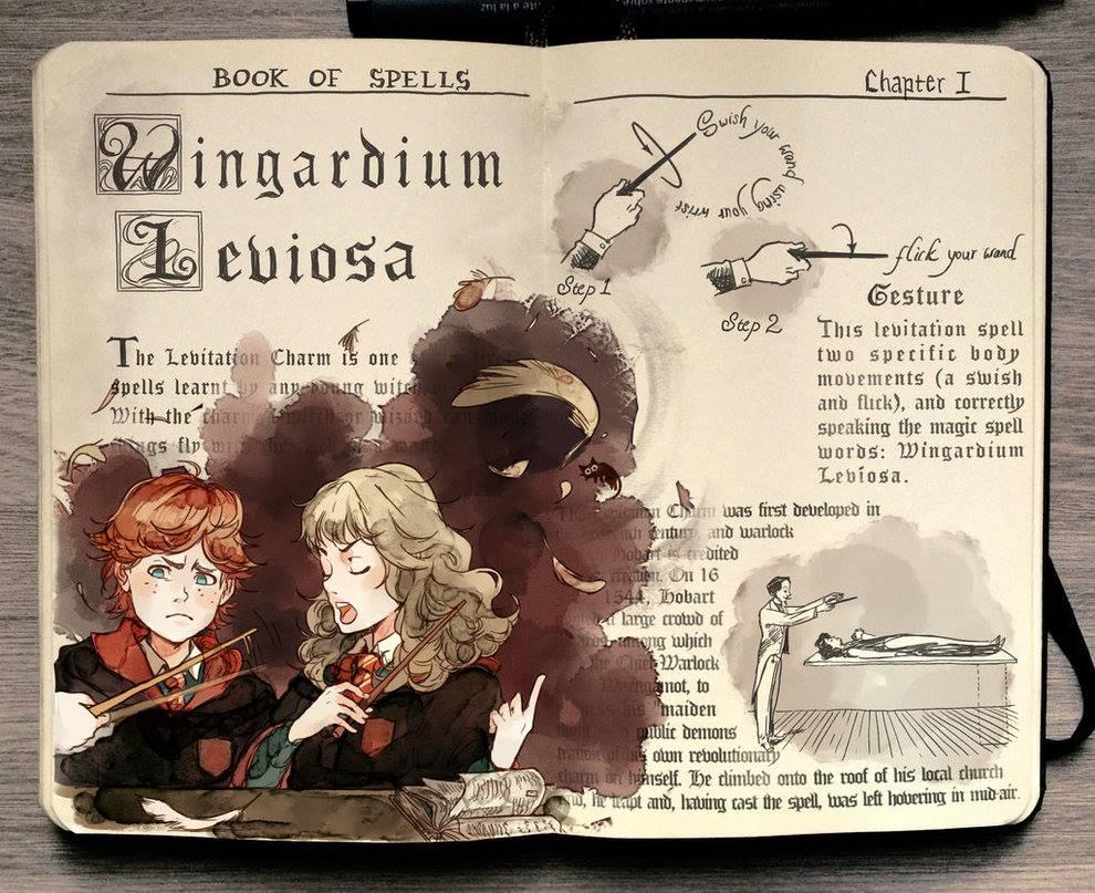 Wingardiam Leviosa illustration by Gabriel Picolo